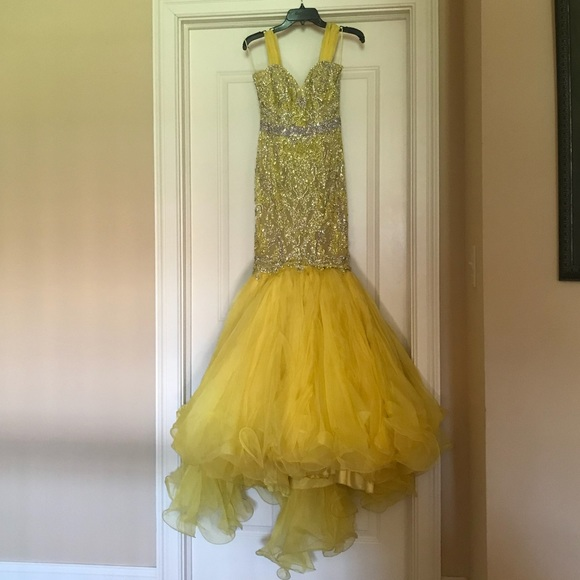Sherri Hill Dresses | Yellow Custom Pageant Gown | Poshmark